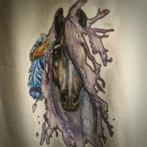Artistic Horse Graphic T-shirt